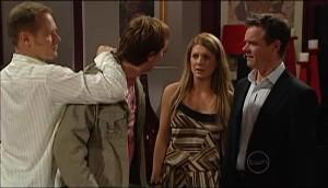Max Hoyland, Cameron Robinson, Izzy Hoyland, Paul Robinson in Neighbours Episode 4982