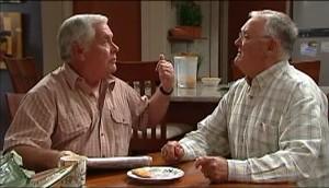 Lou Carpenter, Harold Bishop in Neighbours Episode 4985