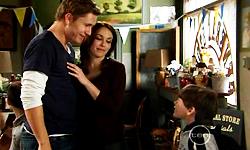 Dan Fitzgerald, Libby Kennedy, Ben Kirk in Neighbours Episode 5545