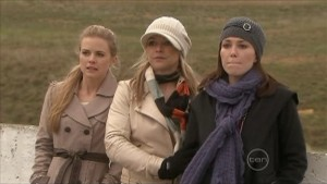 Elle Robinson, Steph Scully, Libby Kennedy in Neighbours Episode 5575