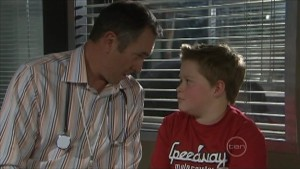 Karl Kennedy, Callum Jones in Neighbours Episode 5575
