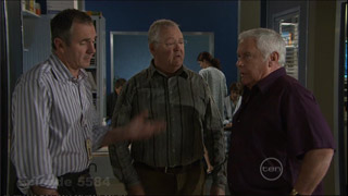 Karl Kennedy, Harold Bishop, Lou Carpenter in Neighbours Episode 5584