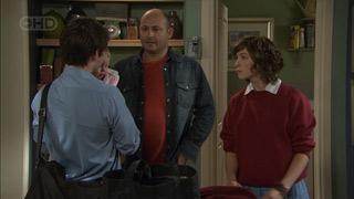 Declan Napier, Chloe Cammeniti, Steve Parker, Bridget Parker in Neighbours Episode 5585