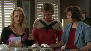Donna Freedman, Ringo Brown, Bridget Parker in Neighbours Episode 5588
