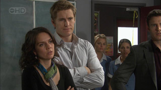 Libby Kennedy, Dan Fitzgerald, Donna Freedman, Rachel Kinski, Andrew Simpson in Neighbours Episode 5598