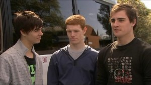 Zeke Kinski, Justin Hunter, Kyle Canning in Neighbours Episode 5604