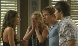 Rachel Kinski, Donna Freedman, Ringo Brown, Ty Harper in Neighbours Episode 5616