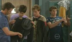 Lucas Fitzgerald, Ty Harper, Ringo Brown, Declan Napier in Neighbours Episode 5617