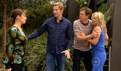 Dr Veronica Olenski, Dan Fitzgerald, Greg Michaels, Steph Scully in Neighbours Episode 5618
