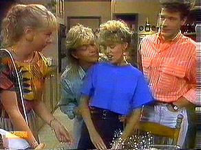 Sally Wells, Scott Robinson, Charlene Mitchell, Tony Romeo in Neighbours Episode 0687