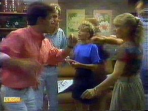 Tony Romeo, Scott Robinson, Charlene Mitchell, Jane Harris in Neighbours Episode 0687
