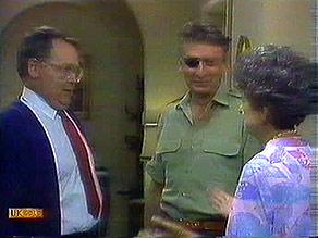 Harold Bishop, Frank Darcy, Nell Mangel in Neighbours Episode 0687