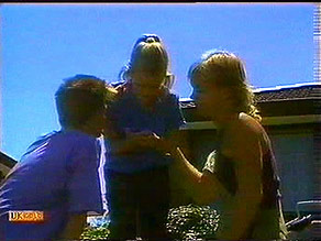Todd Landers, Katie Landers, Scott Robinson in Neighbours Episode 0689