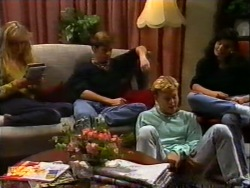 Jane Harris, Mike Young, Scott Robinson, Poppy Skouros in Neighbours Episode 0950