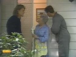 Henry Ramsay, Liz Anderson, Joe Mangel in Neighbours Episode 0951