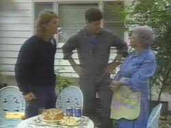 Henry Ramsay, Joe Mangel, Liz Anderson in Neighbours Episode 0951