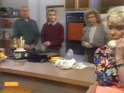 Jim Robinson, Nick Page, Beverly Robinson, Helen Daniels in Neighbours Episode 0953