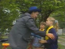 Bob Landers, Toby Mangel, Katie Landers in Neighbours Episode 0955