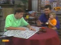 Mike Young, Des Clarke, Jamie Clarke in Neighbours Episode 0955