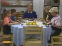 Katie Landers, Todd Landers, Jim Robinson, Beverly Marshall, Helen Daniels in Neighbours Episode 0957