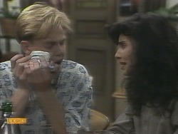 Scott Robinson, Poppy Skouros in Neighbours Episode 0958