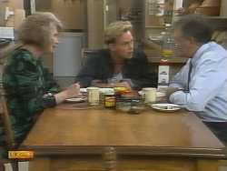 Madge Bishop, Scott Robinson, Harold Bishop in Neighbours Episode 0958