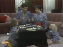 Jamie Clarke, Des Clarke, Kerry Bishop, Sky Bishop in Neighbours Episode 0959