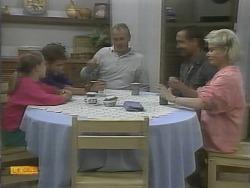 Katie Landers, Todd Landers, Jim Robinson, Bob Landers, Helen Daniels in Neighbours Episode 0960
