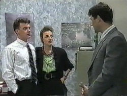 Paul Robinson, Gail Robinson, Kevin Harvey in Neighbours Episode 0965