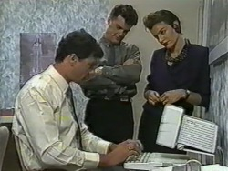 Kevin Harvey, Paul Robinson, Gail Robinson in Neighbours Episode 0965