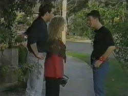 Nick Page, Sharon Davies, Matt Robinson in Neighbours Episode 0967