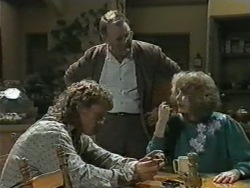 Henry Ramsay, Harold Bishop, Madge Bishop in Neighbours Episode 0969