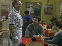 Harold Bishop, Des Clarke, Kerry Bishop in Neighbours Episode 0969