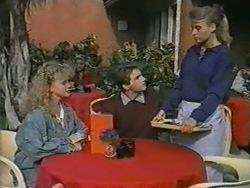 Sharon Davies, Nick Page, Bronwyn Davies in Neighbours Episode 0970