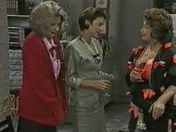 Madge Bishop, Gail Robinson, Gloria Lewis in Neighbours Episode 0970
