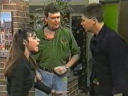 Kerry Bishop, Des Clarke, Joe Mangel in Neighbours Episode 0972