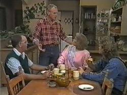 Harold Bishop, Jim Robinson, Madge Bishop, Henry Ramsay in Neighbours Episode 0973