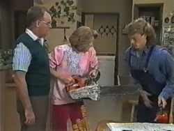 Harold Bishop, Madge Bishop, Henry Ramsay in Neighbours Episode 0973