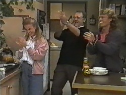 Bronwyn Davies, Harold Bishop, Henry Ramsay in Neighbours Episode 0974