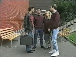 Mike Young, Matt Robinson, Sharon Davies, Nick Page in Neighbours Episode 0974