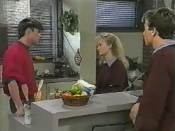 Mike Young, Sharon Davies, Nick Page in Neighbours Episode 0975