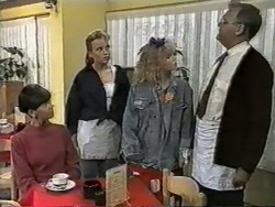 Hilary Robinson, Bronwyn Davies, Sharon Davies, Harold Bishop in Neighbours Episode 0976