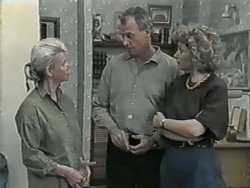 Helen Daniels, Jim Robinson, Beverly Marshall in Neighbours Episode 0977