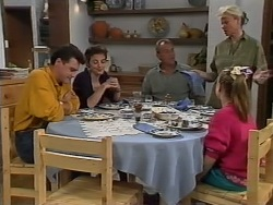 Paul Robinson, Gail Robinson, Jim Robinson, Helen Daniels, Katie Landers in Neighbours Episode 0978