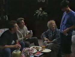 Matt Robinson, Nick Page, Sharon Davies, Hilary Robinson in Neighbours Episode 0982