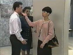 Paul Robinson, Gail Robinson, Hilary Robinson in Neighbours Episode 0986