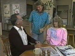 Harold Bishop, Henry Ramsay, Madge Bishop in Neighbours Episode 0986