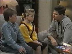 Toby Mangel, Katie Landers, Joe Mangel in Neighbours Episode 0987