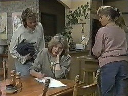 Henry Ramsay, Madge Bishop, Bronwyn Davies in Neighbours Episode 0990