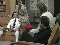 Harold Bishop, Bronwyn Davies, Madge Bishop, Henry Ramsay, Joe Mangel in Neighbours Episode 0990